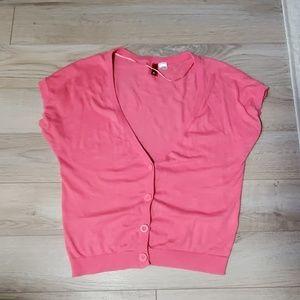 H&M Pink Short Sleeve Summer Cardigan
